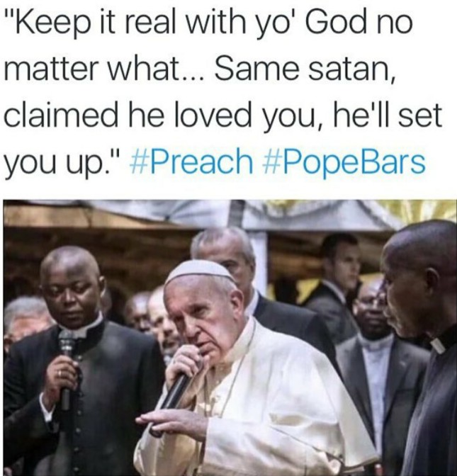 keep it real with yo god no matter what same satan claimed he loved you he'll set you up