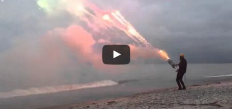 Roman Candle Minigun (1001 shots in 45 seconds)