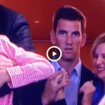 Eli Manning can't contain his excitement when Peyton wins Super Bowl 50