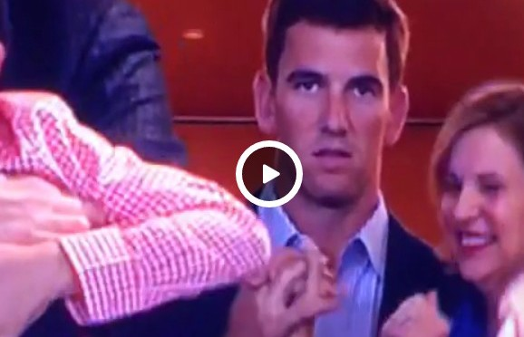 Eli Manning can't contain excitement when Peyton wins