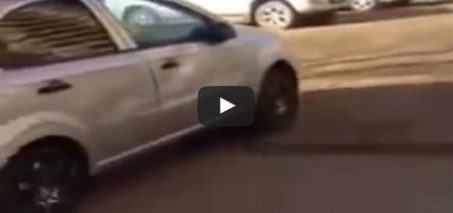 Woman Driver Trying to Park Smashes into 17 Cars