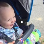 Baby Reacts to Skate Park Collision