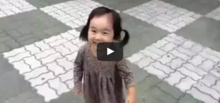 Little Girl Can't Stay Mad With Squeaky Shoes On