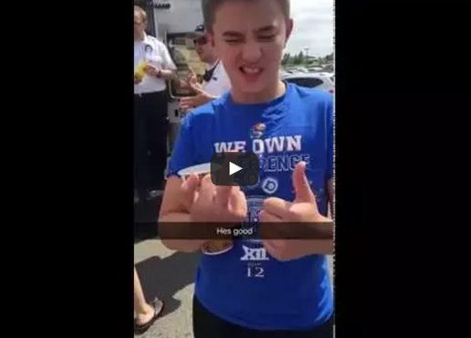 Kid's Hand Gets Stuck In A Bench