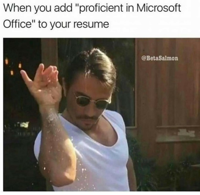 when you add proficient in microsoft office to your resume