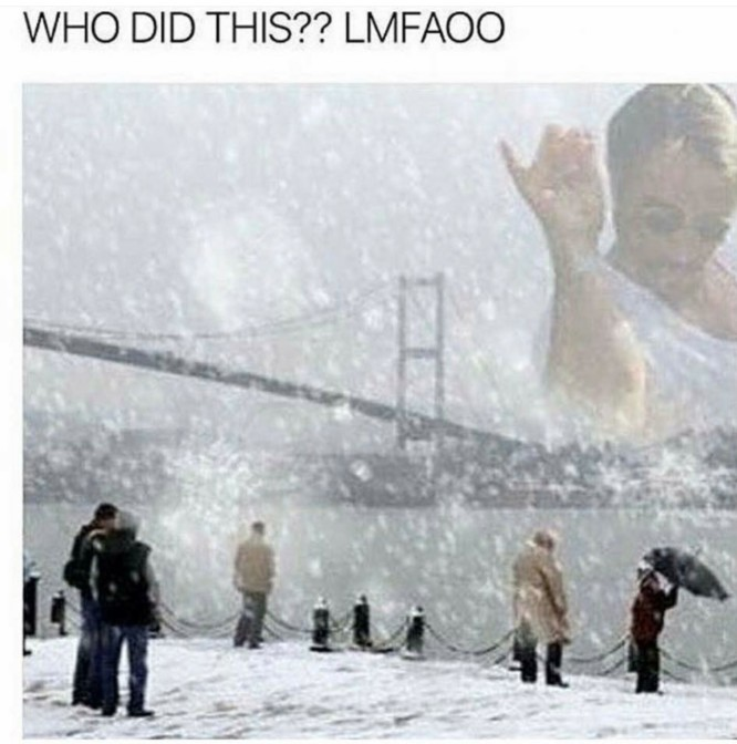 who did this salt guy snow golden gate bridge