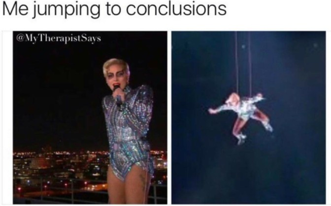 me jumping to conclusions superbowl lady gaga