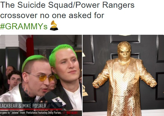 the suicide squad power rangers crossover no one asked for grammys