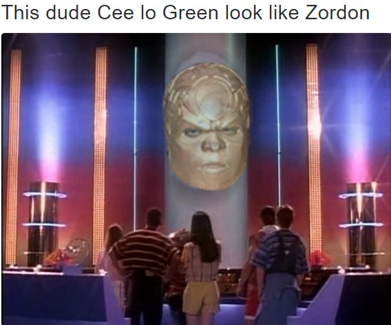 this dude cee lo green look like zordon 13 grammys 2017 memes cee lo green, beyonce, katy perry, & more!
