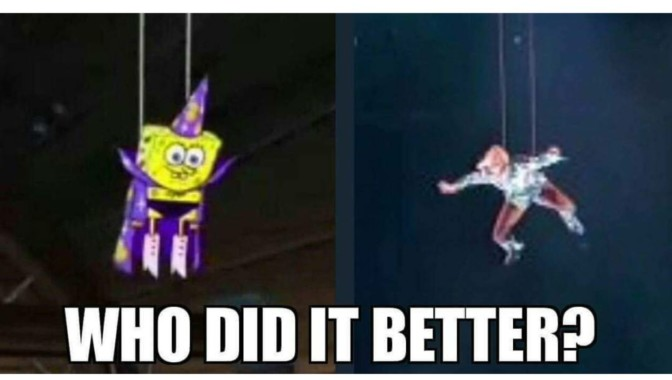 who did it better spongebob lady gaga superbowl