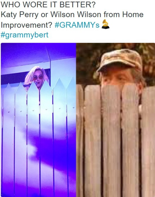 who wore it better katy perry or wilson wilson from home improvement grammys
