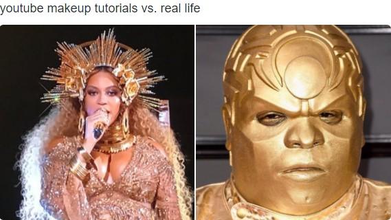 youtube makeup tutorials vs. real life