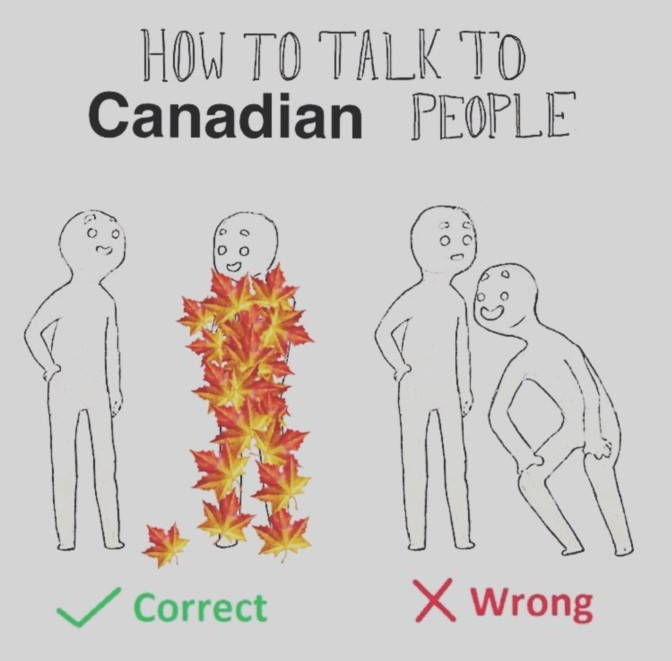 how to talk to candian people maple leaves