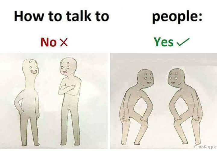 how to talk to short people memes crouching