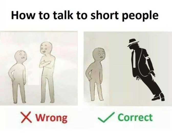 how to talk to short people michael jackson lean