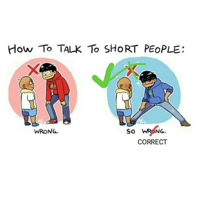 how to talk to short people wide stance