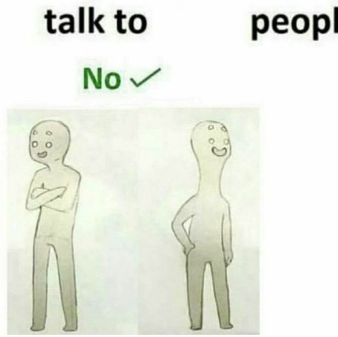 talk to people no