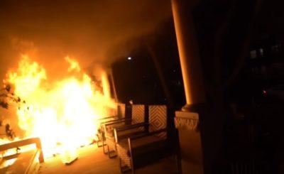 house fire pov video