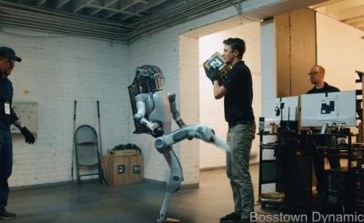 boston dynamics robot fights back bosstown dynamics parody